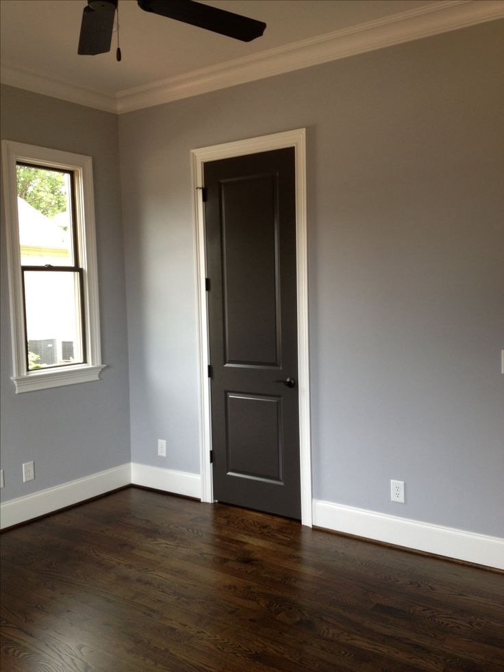 Sherwin williams lazy gray and urbane bronze on doors and for Black interior paint