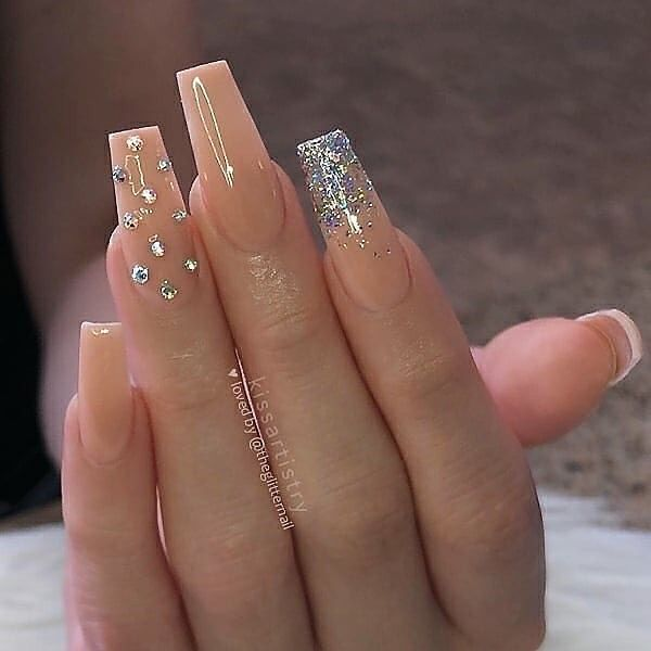 The Best Press On Fake Nails Tips In 2020 Tapered Square Nails Coffin Nails Designs Square Acrylic Nails