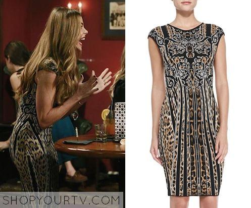 MODERN FAMILY: SEASON 6 EPISODE 7 GLORIA'S Leopard/Striped Dress