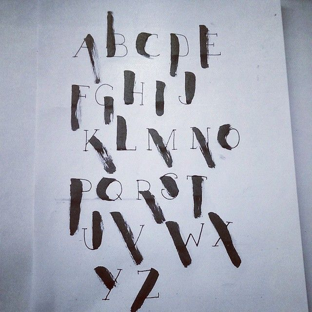 Calligraphy My Own Designed Stroke Font Tryout Koen