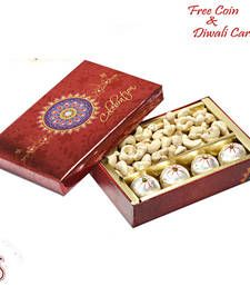 Buy Decorated Box of kaju laddoos and Cashews  diwali-dry-fruit online