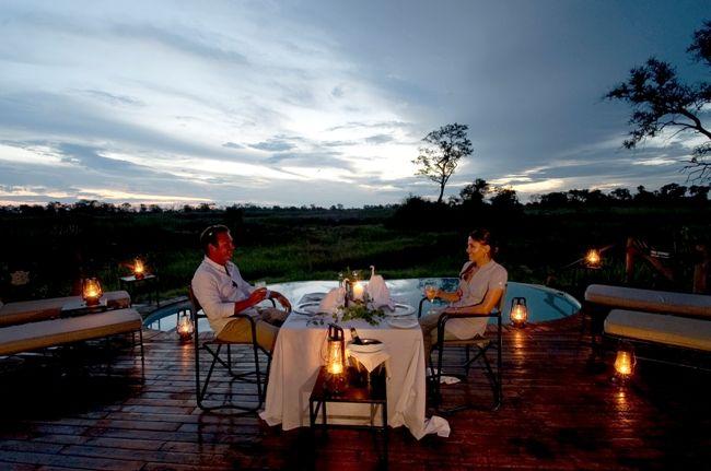 Romantic dinner @ #BainesCamp #Botswana