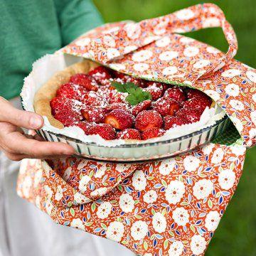 Un sac à tarte en tissu fleuri - Marie Claire Idées