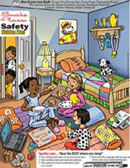 Try Sparky's new smoke alarm hidden picture. #FirePreventionWeek