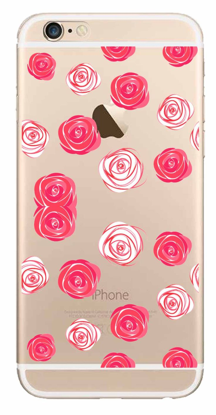 Whatskin DIY Style Color Drawing Flowers Series 17 Clear Back Cover for iphone 6