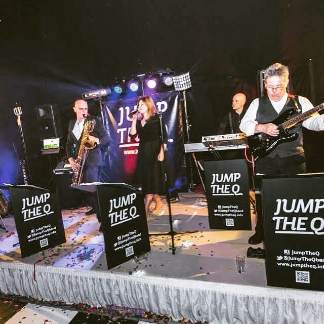 Live shot. Live music for weddings & parties in the North East & North Yorkshire by Jump The Q. www.jumptheq.info
