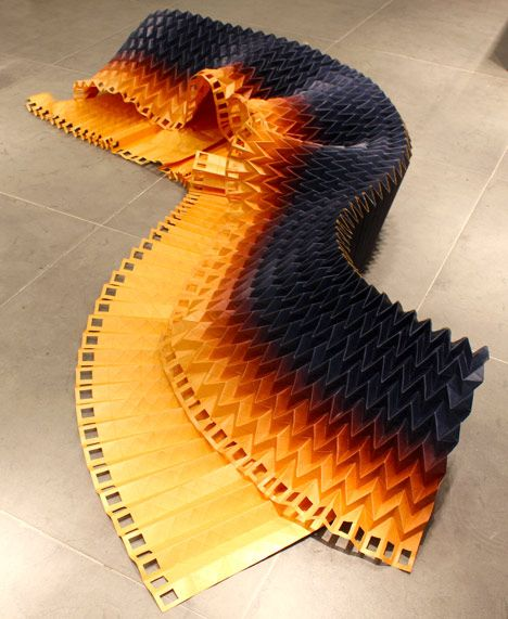 Fantastic, Strangely Wearable Origami Dresses Folded From Large Pieces Of Paper - DesignTAXI.com