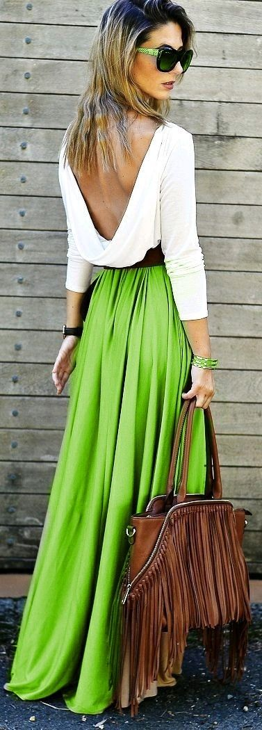 Green - simplicity - beautiful outfit