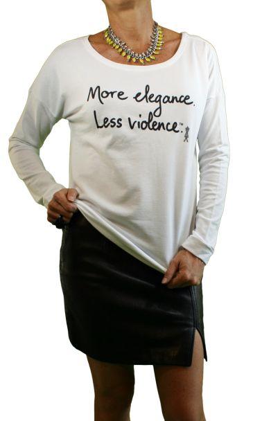 More Elegance. Less Violence. -TerryLongSleeveScoop-LMW-002-1