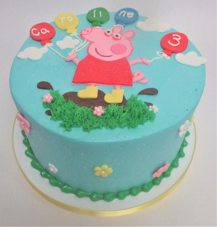 Peppa pig birthday cake by Flavor Cupcakery