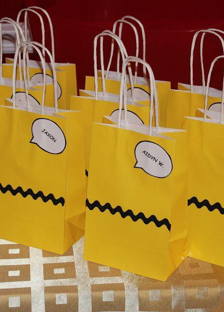 Harris Sisters GirlTalk: Charlie Brown  - Peanuts - Snoopy - Birthday Party - Goodie Bags - DIY