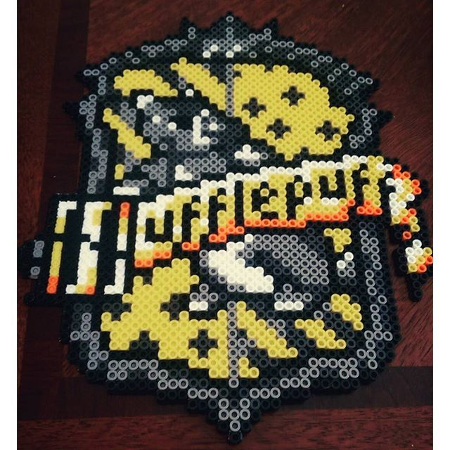 Hufflepuff crest - Harry Potter perler beads by this_life_creations