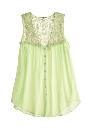 Edenia Silk Lace Top::SHIRTS::CLOTHING::FINAL SALE::Calypso St. Barth