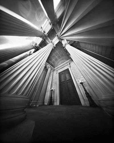 Pinhole Photography, Temple of the Constitution by Scott Speck