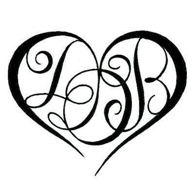 Gallery For > Heart Tattoo With Initials Inside | Tattoo ...