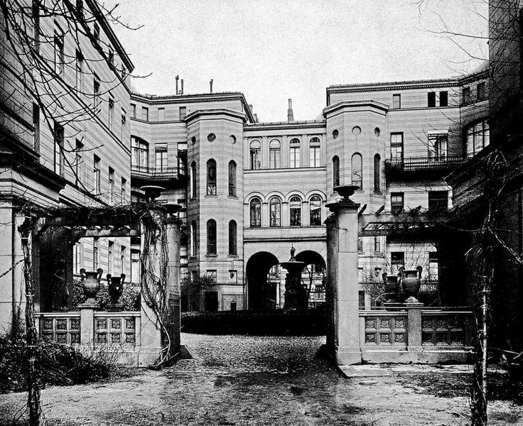 berlin bellevuestra e 12 wohnhaus achard gebaut 1853 54 von f hitzig hofansicht um 1906. Black Bedroom Furniture Sets. Home Design Ideas
