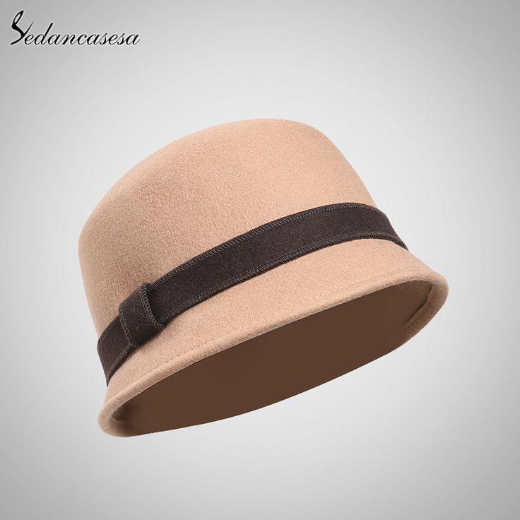 Новый 100% Шерстяные Dome Fedora Шляпа Британский Стиль Чисто Шерстяные Боулер…