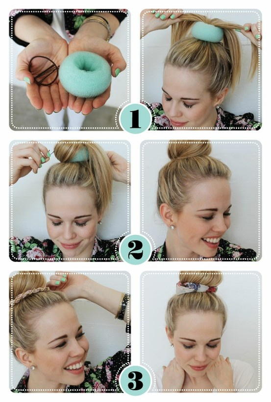 Beauty How-To: Fun Bun! What you'll need: · 3 bobby pins · Your favorite hair tie · CR donut. Finish the look with your favorite CR bun décors!