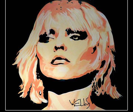 Heart Of Glass art by Stacey Wells Tge softer side of Deborah's Harry of hit band Blondie. Original art by Stacey Wells