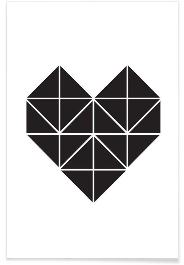 Origami Herz VON Eulenschnitt now on JUNIQE!