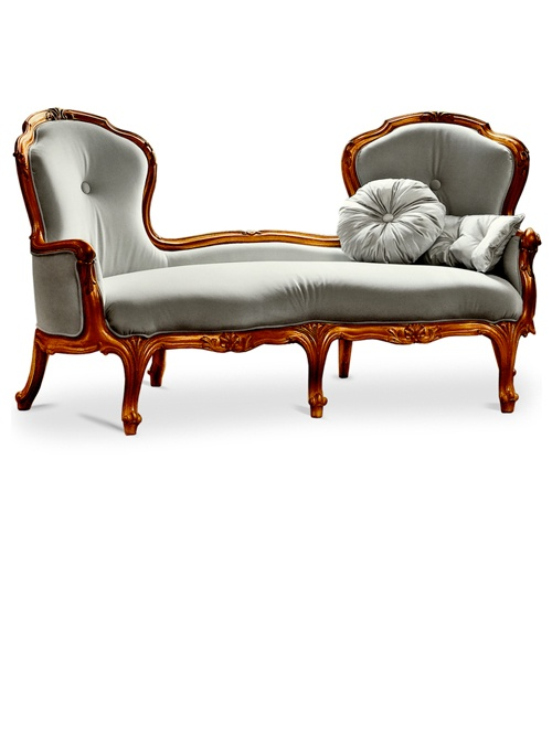 Ordinaire Venetian Style Double Louis XVII C Chaise Lounge Shown Here Finished In  Gold Leaf In Our