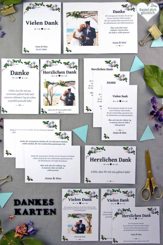 Word Vorlage Dankeskarte Hochzeit Einfach Schnell Und Preiswert Selber Drucke In 2020 Diy Karten Hochzeit Einladungskarten Hochzeit Selber Machen Diy Hochzeit Planen