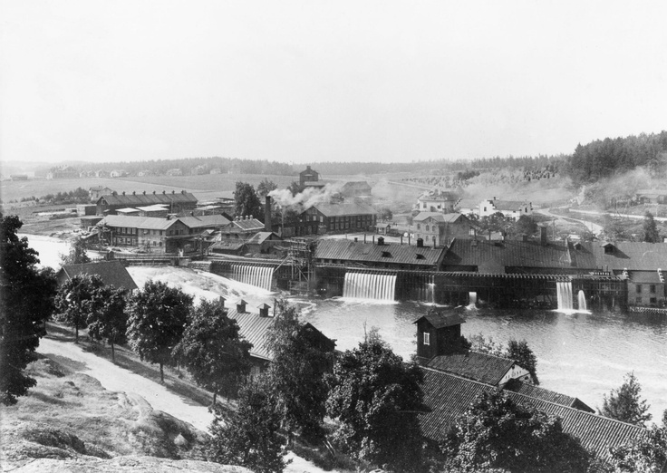 Billnäs ironworks in 1890, Raseborg, Finland