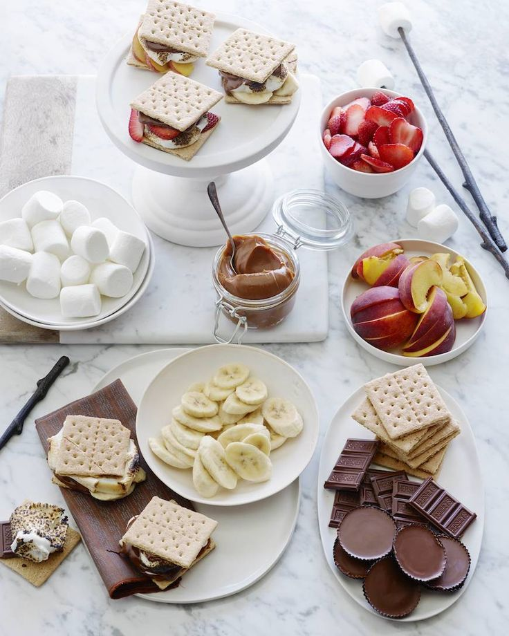 S'mores Bar Party!   What's Gaby Cooking  S'mores are the quintessential summer dessert. They require no baking, just a handful of ingredients, and a group of people to enjoy them. That's my kinda party!