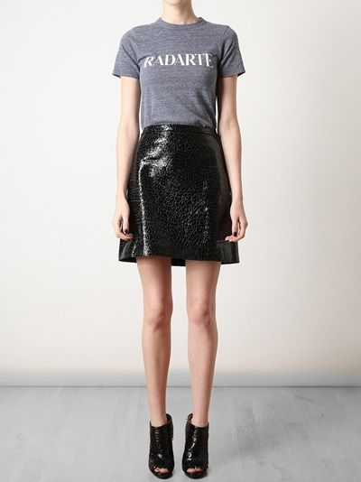 3.1 Phillip Lim | patent leather cracked minskirt