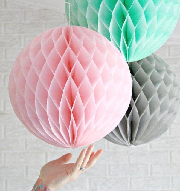 """10 """"25 cm Honingraat Ballen Bruiloft Verjaardag Decoraties Kids Baby Douche Gunsten Event Feestartikelen Papier Lantaarns W1606"""