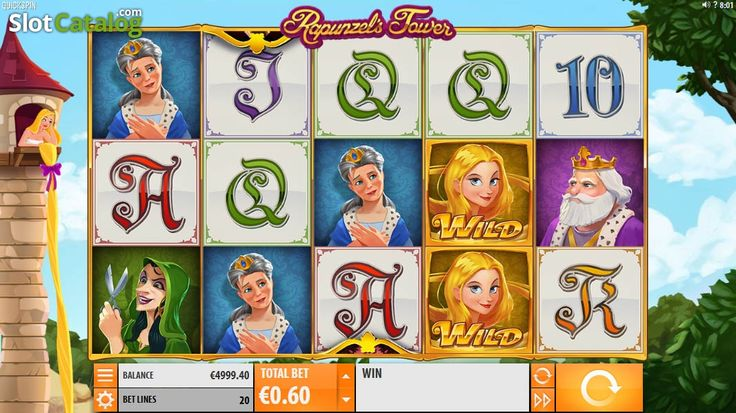 Game Workflow screen. Rapunzel's Tower (New)(Video SlotfromQuickspin)
