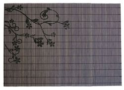 Asian Bamboo #placemats set of 6 #mats are perfect addition to your #kitchen, because they are easy to clean and look good on your #table http://www.ecomaffluence.com/ECO-Friendly-Grey-Black-Bamboo-Placemats-p/bamb-plsm.htm