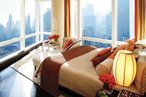 Premier Central Park View Suite - Bedroom Mandarin Oriental, New York City
