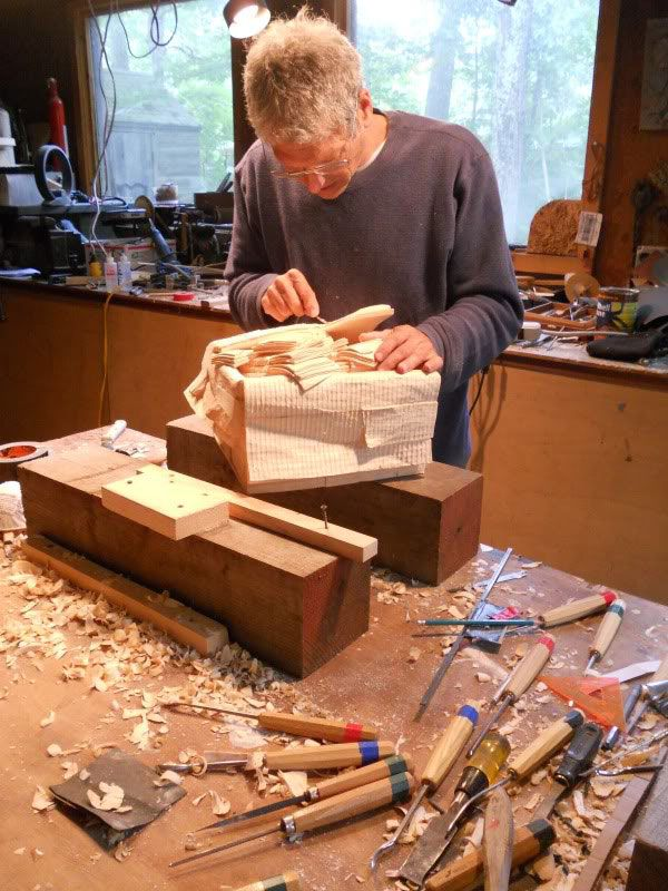 wood sculprure of money   randall rosenthal carves a block of wood into a box of money (18)