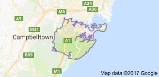 Map of Sutherland Shire