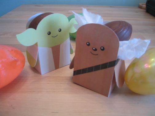 OMG - SO Freaking CUTE! #starwars #birthday #favors #goodiebag #chewbacca #yoda