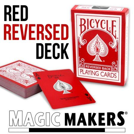 Magic Makers Reverse Back Red Bicycle Deck