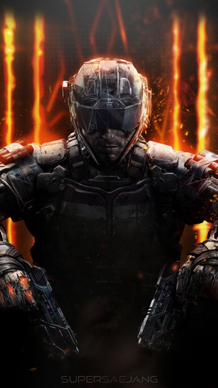 Call Of Duty Black Ops Iii Soldier Artwork 720x1280 Wallpaper