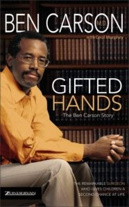 """Gifted Hands, The Ben Carson Story.  This is a truly inspiring story about Dr.Ben Carson and how he went from a """"D"""" student to a world renown neuroscientist, and surgeon. This book is great for all ages but could truly serve to inspire any 11-14 year old child. Read it to the younger ones, they will benefit too!!!!  Family reading together...always a GOOD thing :)  I almost forgot...Cuba Gooding played him in a made for TV movie of the same name."""