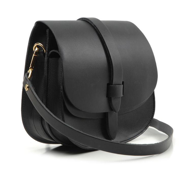 Black Arlington Saddle Bag by Lost Property of London - shop at Roztayger
