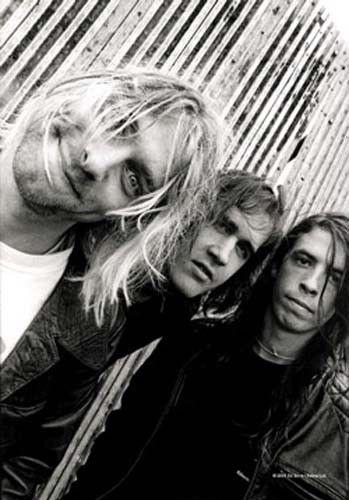 Kurt Cobain Group Shot Fabric Poster