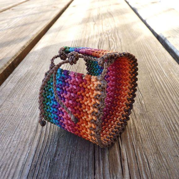 Very Cool Handwoven Sweatband Style Macrame Bracelet by Yogamoodra