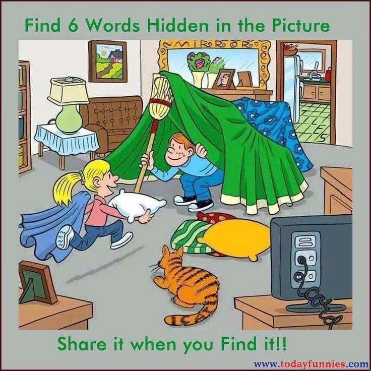 Today Funnies | Can You Find 6 Hidden Words In This Picture…?