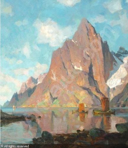 Thorolf Holmboe 1866-1935: Lofoten in Norway