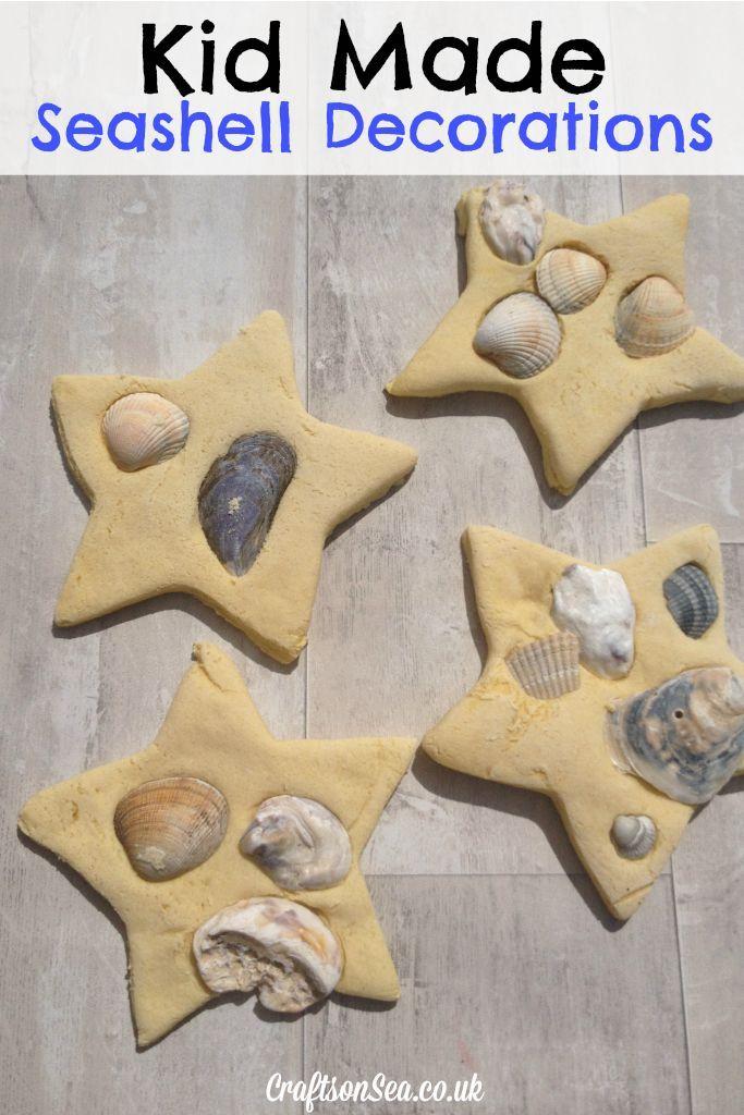 Kid Made Seashell Decorations - Crafts on Sea