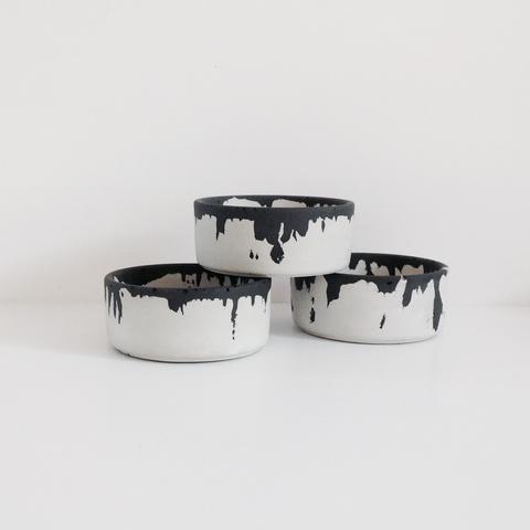 Concrete ink bowl black and white
