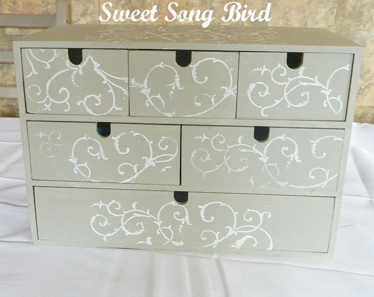 Sweet Song Bird: Stenciled IKEA Organizer