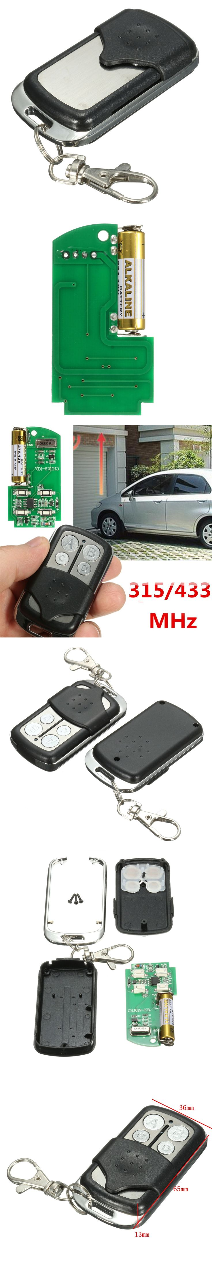 Universal 27A 12V 4-Channel 433 315 MHz Gate Garage Door Opener Remote Control Key
