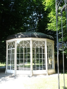 """Sound of Music Gazebo - Salzburg, Austria In the motion picture version of The Sound of Music, the song was filmed in and around a gazebo which is still visited by hundreds of tourists each day doing """"Sound of Music"""" tours around Salzburg though the gazebo interiors were filmed in Hollywood."""