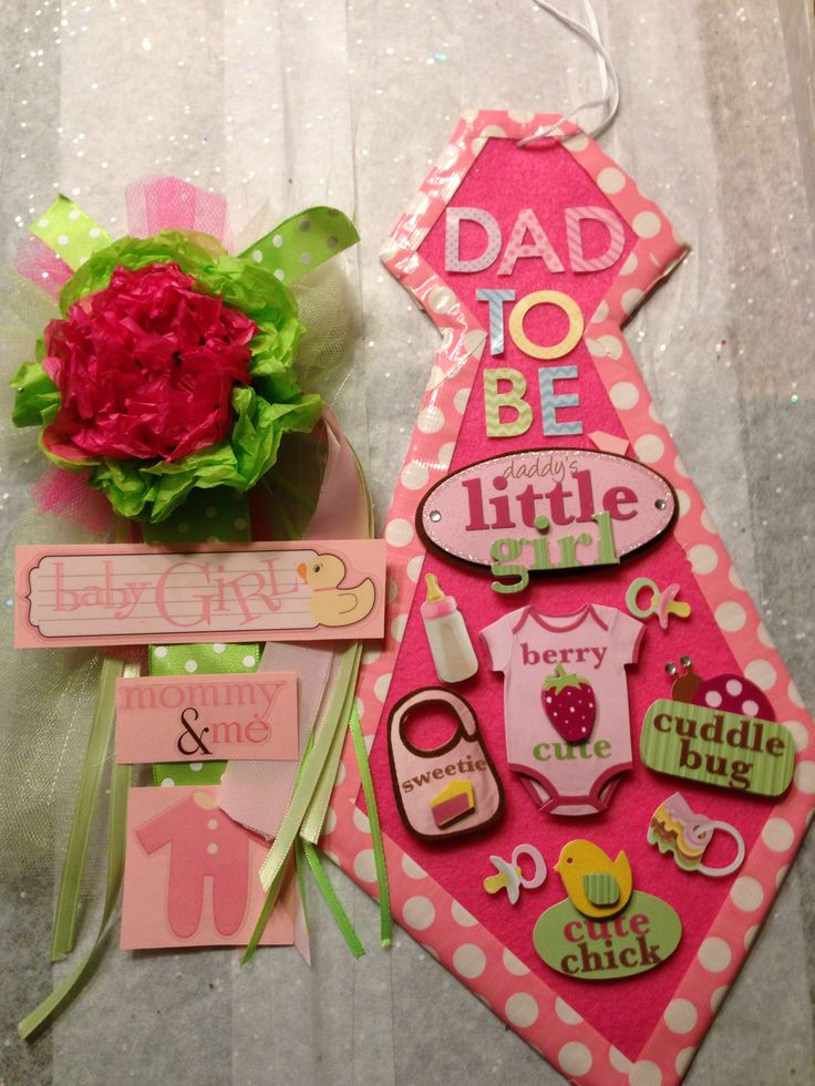 dad to be tie mom to be corsage baby shower